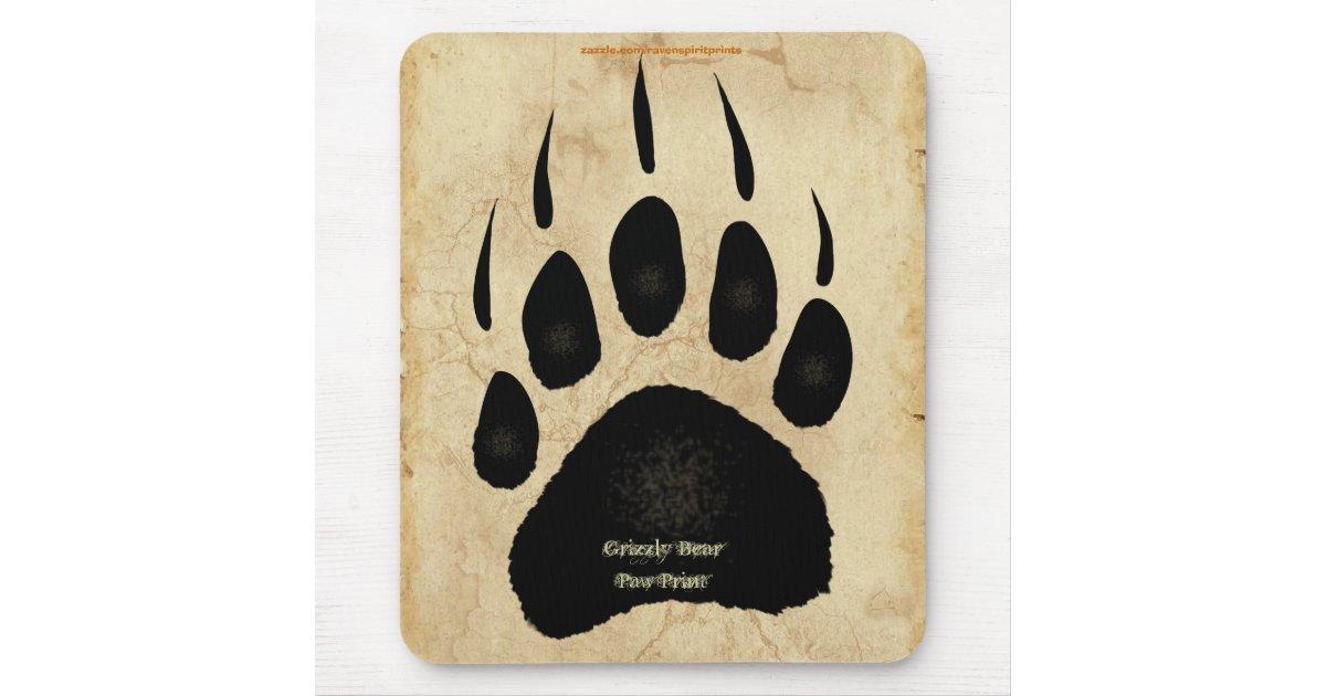 D fenseur mousepad de faune d 39 empreinte de patte tapis de for Surface minimum bureau code du travail