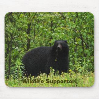 Défenseur Mousepad de faune d'ours noir Tapis De Souris