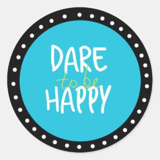 Défi à être autocollants heureux