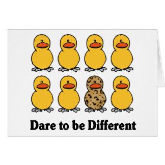 Défi à être différents cartes pour notes