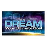 Défi pour rêver la carte de but cartes de visite personnelles