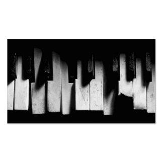 Défi pour rêver le carte de visite de piano