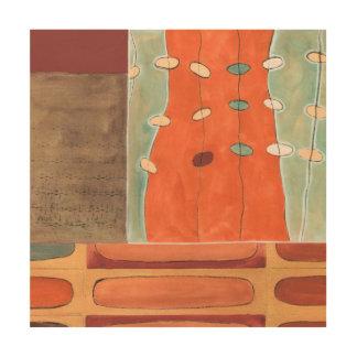Défilé abstrait des oeufs par Bruyère J Vess Impression Sur Bois