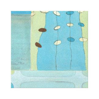 Défilé bleu abstrait d'oeufs toile