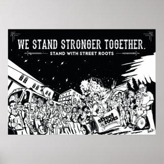 Défilé de Portland - une rue enracine l'affiche de Poster