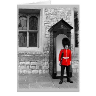 Défilé de soldat de Londres ma carte de voeux