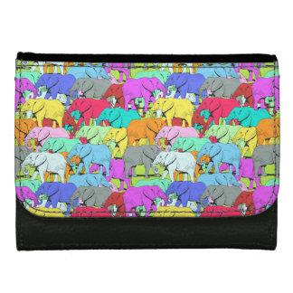 Défilé d'éléphants - portefeuille coloré