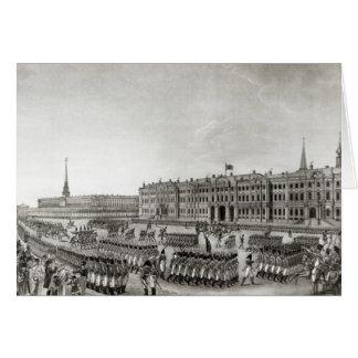 Défilé devant le palais impérial carte de vœux