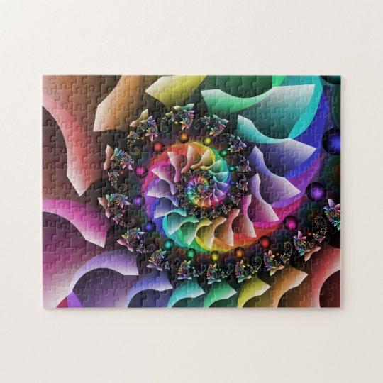 Défilé en spirale de couleur de fractale puzzle