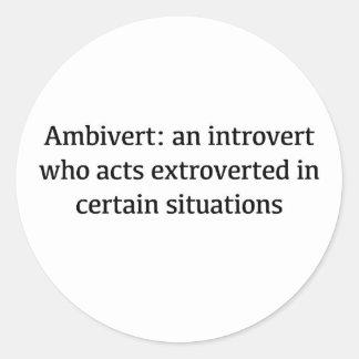 Définition d'Ambivert Sticker Rond