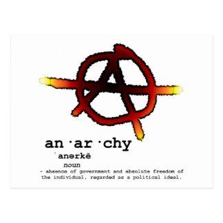 Définition d'anarchie carte postale