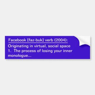 Définition de Facebook Autocollant De Voiture