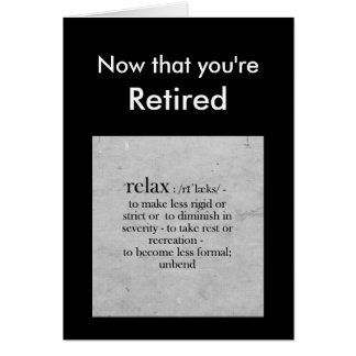 Définition de retraite de la salutation d'humour