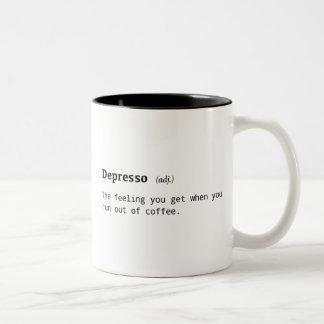 Définition drôle de tasse de café de Depresso