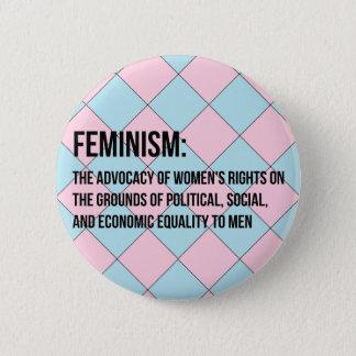 Définition du féminisme pin's