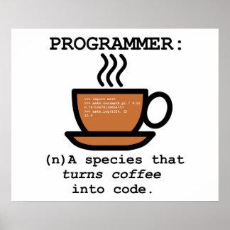 Définition d'un informaticien - affiche de geek posters