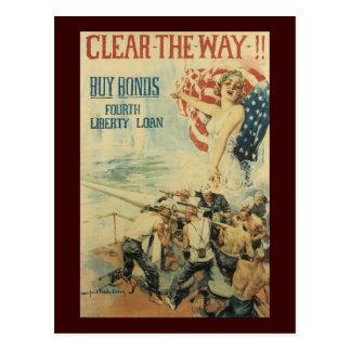 Dégagez la deuxième guerre mondiale de manière carte postale
