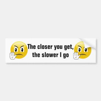 Dégagez mon adhésif pour pare-chocs d'Emoji de Autocollant De Voiture