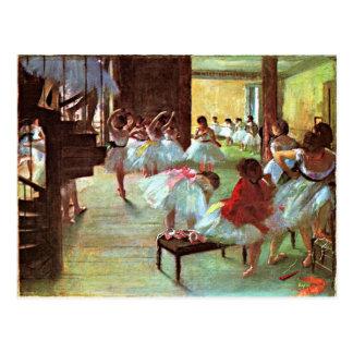 Dégazez - l'école de ballet carte postale