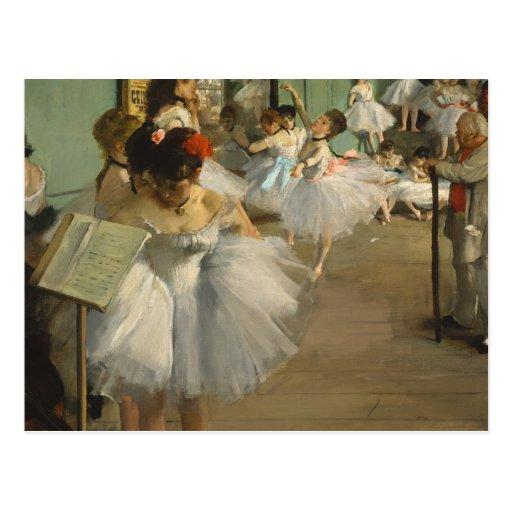 Dégazez les danseurs classiques de classe de danse cartes postales