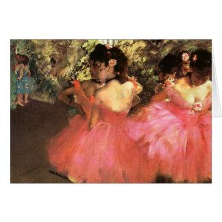 Dégazez les danseurs dans la carte de note rose