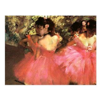 Dégazez les danseurs en carte postale rose