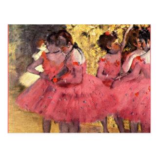 Dégazez - les danseurs roses carte postale