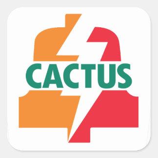 Deisgn d'autocollant de Bell du cactus onze par Sticker Carré