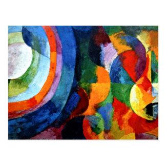 Delaunay - formes circulaires, Sun, lune Carte Postale