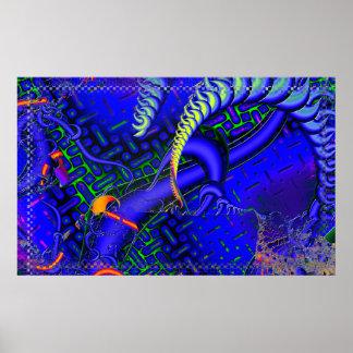 Délicat lambinez la fractale 3D Affiches