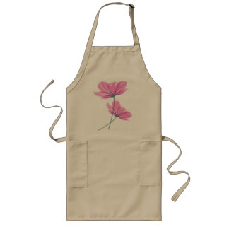 Delicate flower drawing apron tabliers
