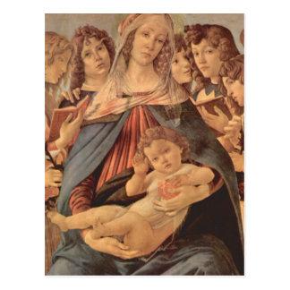 Della Melagrana de Madonna par Botticelli Cartes Postales