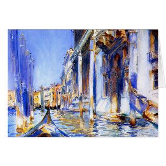 Dell'Angelo Venise de John Singer Sargent Rio Carte De Vœux