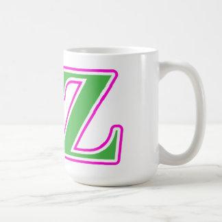 Delta lettres roses et vertes de Zeta Mug