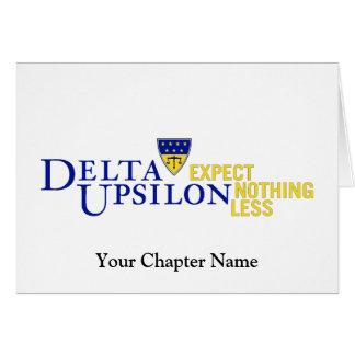 Delta Upsilon - couleur Cartes De Vœux