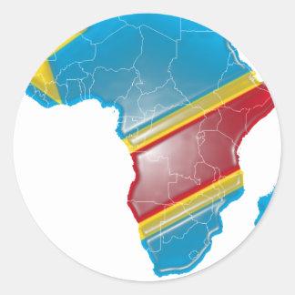 DEM. Représentant. Le Congo Autocollants Ronds