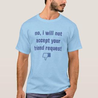 demande d'ami de facebook t-shirt