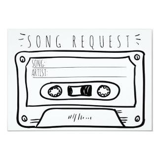 Demande de chanson épousant la cassette de carte