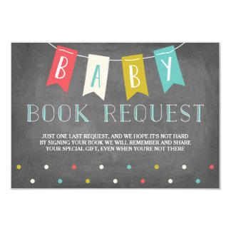 Demande de livre de baby shower carton d'invitation 8,89 cm x 12,70 cm
