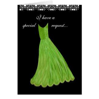 DEMANDE SPÉCIALE - robe de CHAUX de faire-part de Carte De Vœux