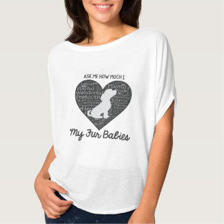 Demandez-moi combien coeur d'I mes bébés de T-shirt