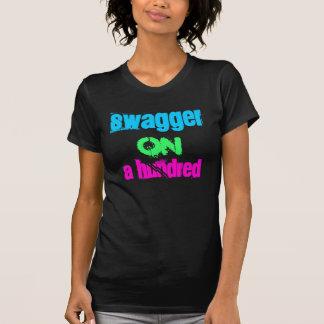 Démarche assurée sur A cent T-shirt