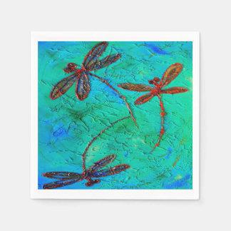 Déménagement de libellule serviette en papier