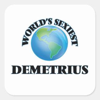 Demetrius le plus sexy du monde autocollants carrés