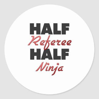 Demi d'arbitre demi de Ninja Sticker Rond