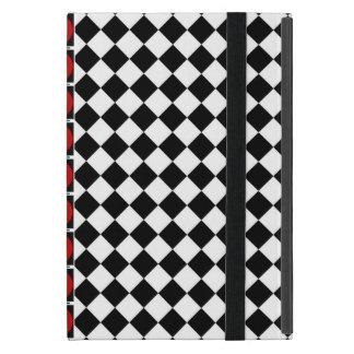 Demi de bande blanche noire élégante de rouge de coque iPad mini
