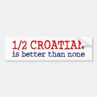 Demi de Croate Autocollant Pour Voiture