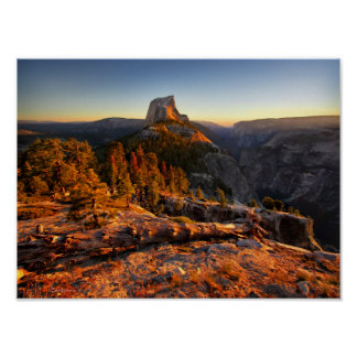 Demi de dôme au coucher du soleil - Yosemite Poster
