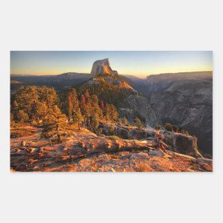 Demi de dôme au coucher du soleil - Yosemite Sticker Rectangulaire
