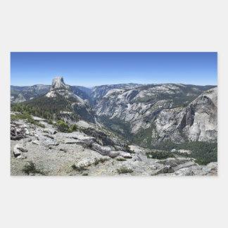 Demi de dôme et de vallée de Yosemite - Yosemite Sticker Rectangulaire